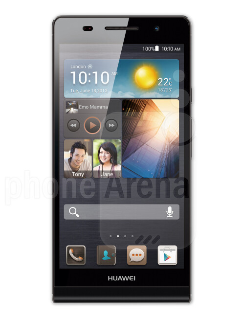 Huawei Ascend P6, 70.09% screen-to-body ratio