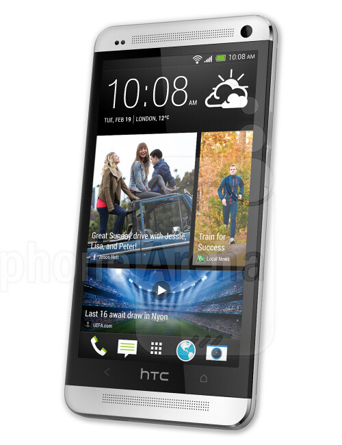 HTC One M7, 64.86% screen-to-body ratio