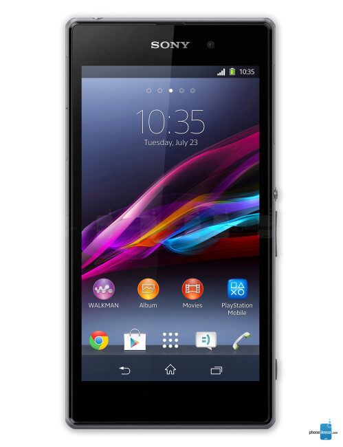 Sony Xperia Z1, 64.52% screen-to-body ratio