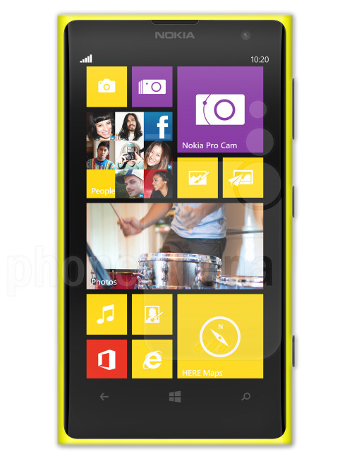 Nokia Lumia 1020, 61.97% screen-to-body ratio