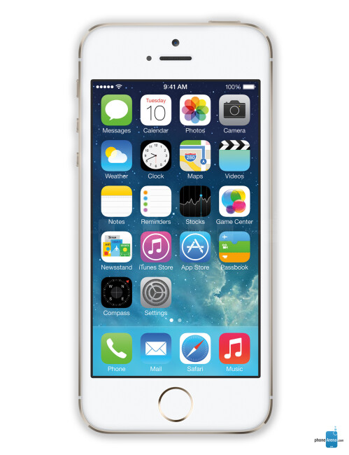Apple iPhone 5s, 60.82% screen-to-body ratio