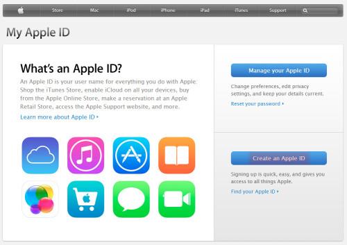 Click On Create New Apple ID