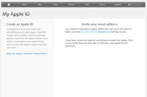 You'll have to verify your email address