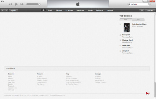 Find Redeem at the bottom of your iTunes home screen