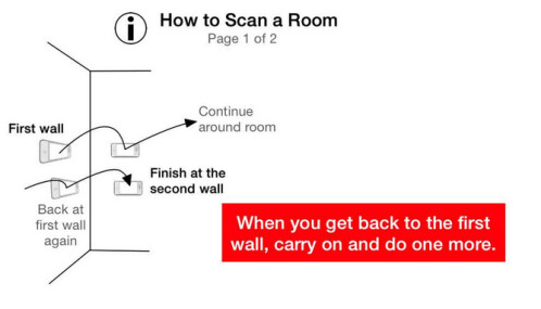 Roomscan turns your Apple iPhone into a tape measure