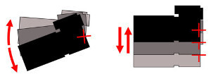 Angular camera shake (left); Shift camera shake (right)
