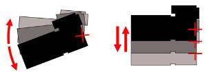 Angular camera shake (left); Shift camera shake (right) - OIS (LG G2) vs. OIS+ (LG G Pro 2): video comparison