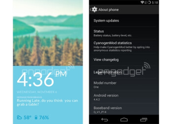 OnePlus One's CyanogenMod 11S OS revealed in leaked images