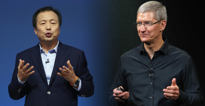 "Samsung Mobile's CEO received a $5.8-million salary in 2013, Apple's Tim Cook ""just"" $4.25 million"