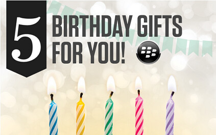 Celebrate BlackBerry World's fifth birthday by downloading five free apps and games - BlackBerry World turns 5 today and celebrates with free apps and games