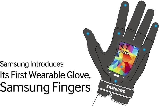Samsung Fingers with flexible display - Samsung's April Fools' joke