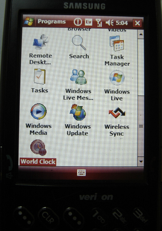 Samsung SCH-i760 - Samsung i760 for Verizon runs Windows Mobile Crossbow