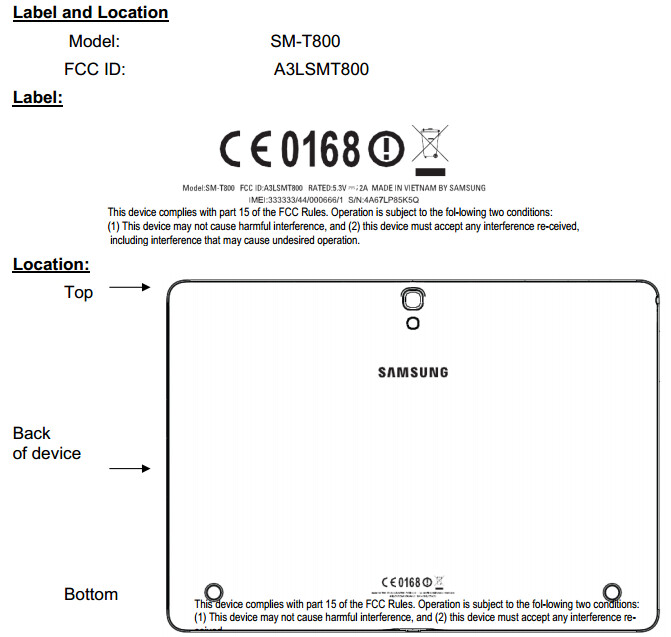 Unannounced Samsung SM-T800 passes the FCC, could be a 10.5-inch tablet with AMOLED display