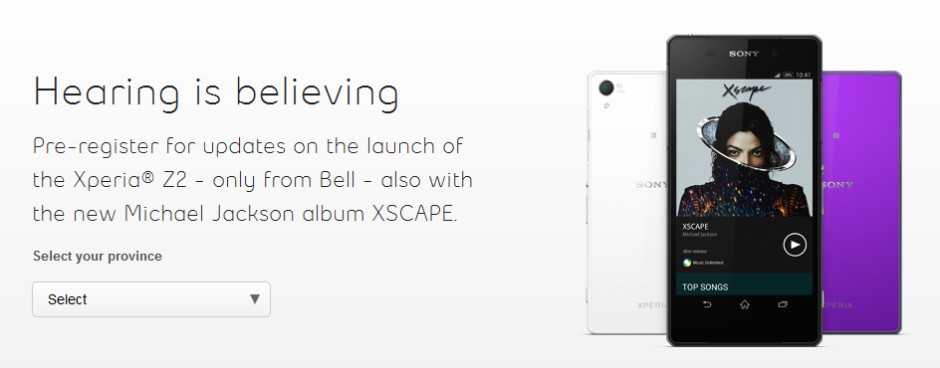 The Sony Xperia Z2 is coming to Bell as a Canadian exclusive - Sony Xperia Z2 is coming to North America in May