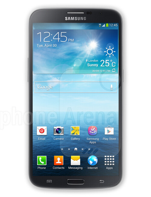 Samsung Galaxy Mega 6.3, 74.27% screen-to-body ratio