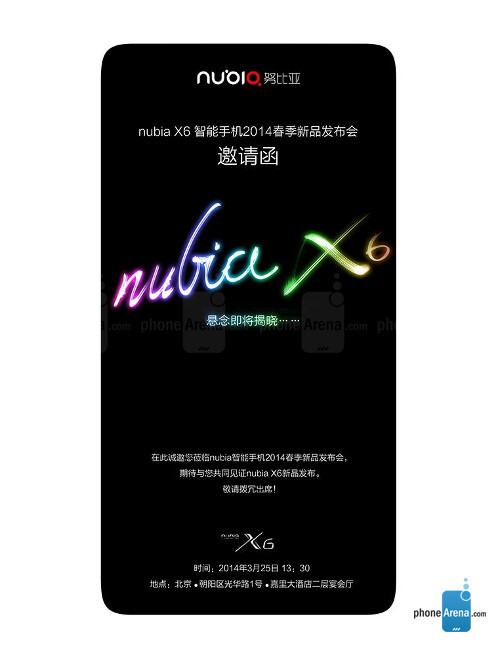 ZTE Nubia X6, 71.72% screen-to-body ratio