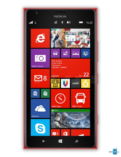Nokia Lumia 1520, 71.42% screen-to-body ratio