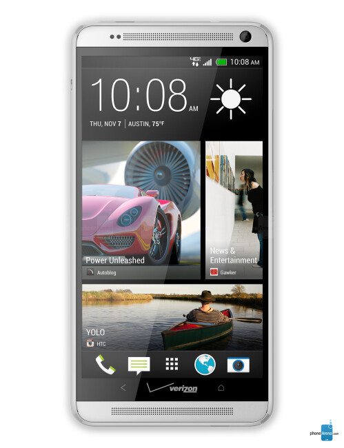 HTC One max, 70.63% screen-to-body ratio