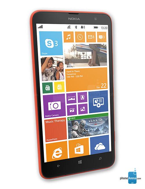 Nokia Lumia 1320, 70.45% screen-to-body ratio
