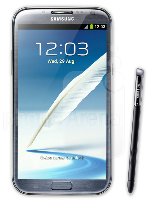 Samsung Galaxy Note 2, 68.65% screen-to-body ratio