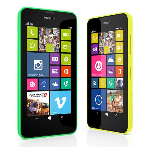 The Lumia 630 and 635