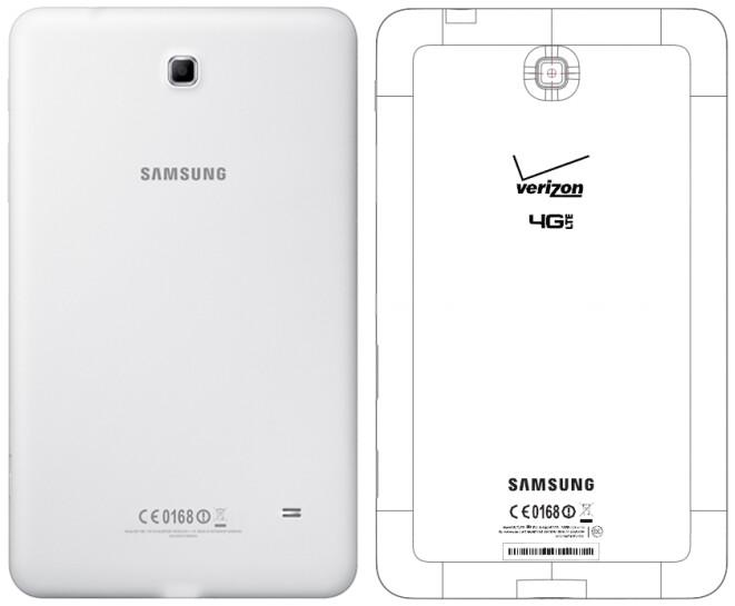 Verizon-branded Samsung Galaxy Tab 4 8.0 (SM-T337V) revealed by the FCC