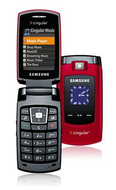 Samsung Red Sync - AT&T (Cingular) launches Motorola V3xx and red Samsung Sync