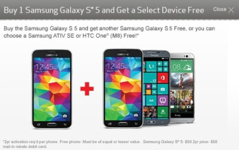 Verizon now taking pre-orders for the Samsung Galaxy S5 with BOGO
