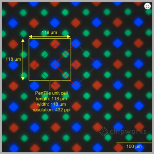 Diamond PenTile matrix in Galaxy S5