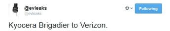 Kyocera Brigadier said to be coming to Verizon