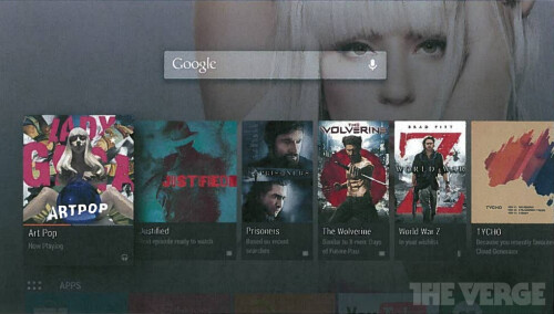 Images surface of the Google TV reboot called Android TV