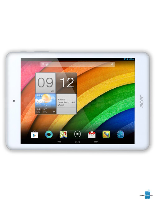 Acer Iconia A1-830, 61.73% screen-to-body ratio