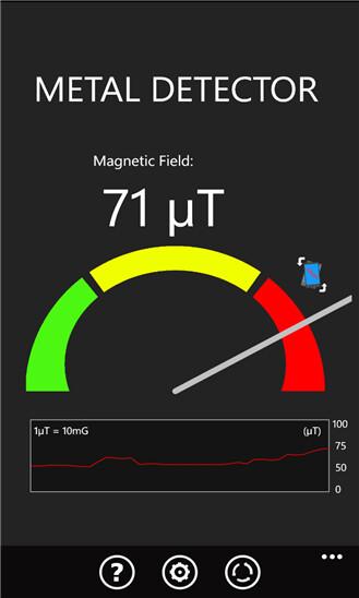 Magnetic field detector screenshots
