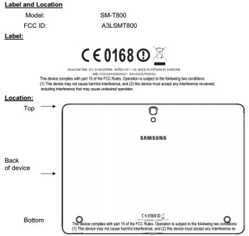 SM-T800 schematics from the FCC filing
