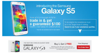 Target (on top) and Verizon have great deals for the Samsung Galaxy S5