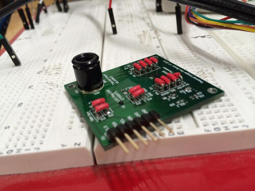 Infrared camera lens module under development.