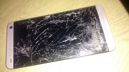 HTC One (2013) gets run over by a forklift, what do you think happens?