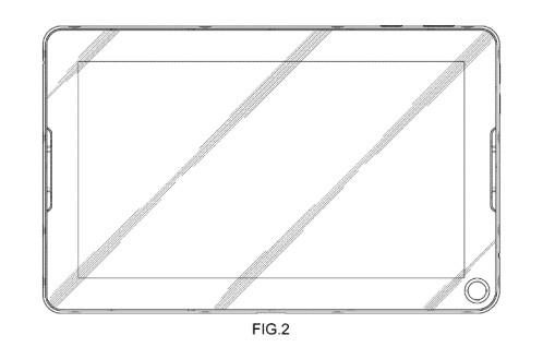 Samsung patents the design of a tablet with... a hole in it?