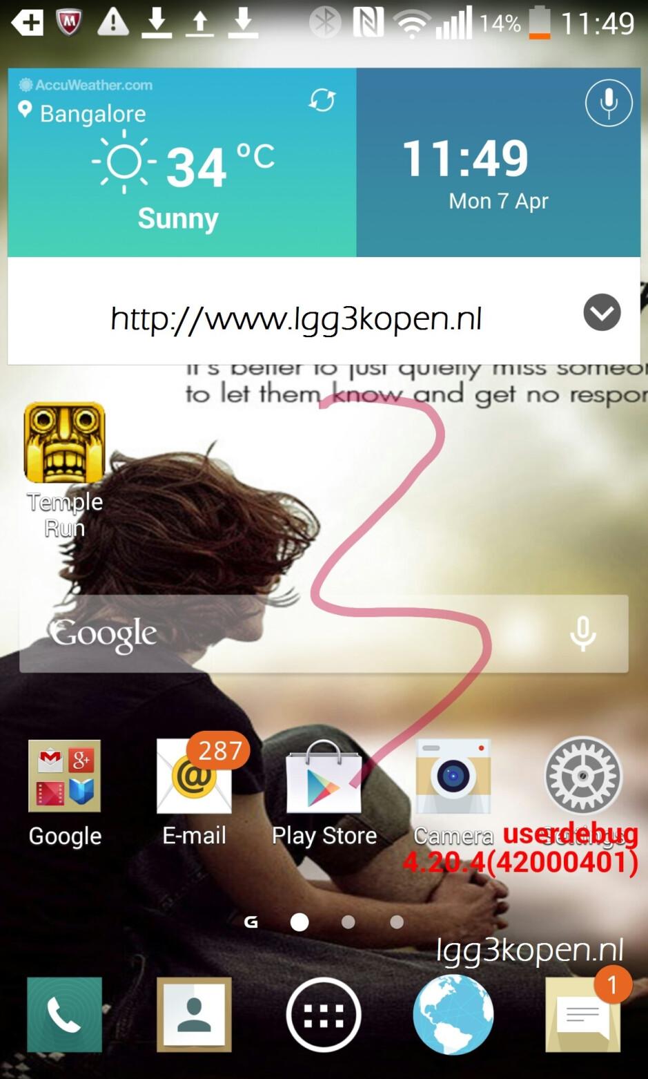 """Alleged LG G3 screenshot hints at more """"flat"""" design to Optimus UI"""