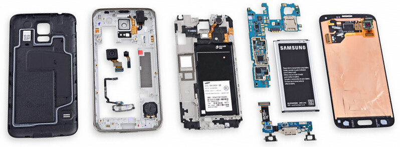 iFixit gives Samsung Galaxy S5 a repairability score of 5 (out of 10)