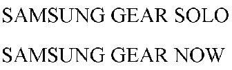 """Samsung wants to trademark the names """"Gear Now"""" and """"Gear Solo"""" in the US"""