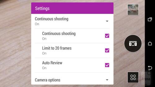 Disable burst shot limit