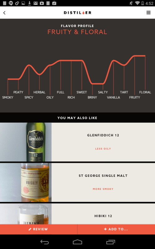 Distiller whiskey app for Android serves both the rough and sophisticated drinkers