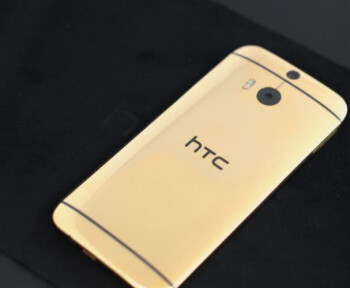 John Legere's new HTC One (M8), finished in 24K Gold and a free gift from HTC America