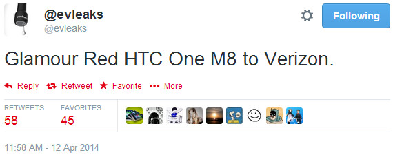 Red HTC One M8 apparently headed to the US (via Verizon)