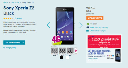 Some U.K. retailers will start to ship pre-orders of the Sony Xperia Z2 on Monday