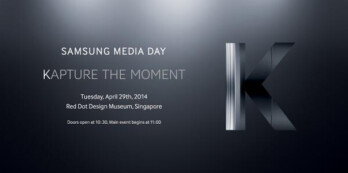 Samsung will introduce the Samsung Galaxy K on April 29th