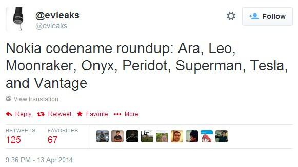 Upcoming Nokia Ara, Leo, Moonraker, Onyx, Peridot, Superman, Tesla, and Vantage codenames tipped