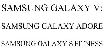Samsung Galaxy V:, Galaxy Adore and Galaxy S Fitness names revealed in trademark applications