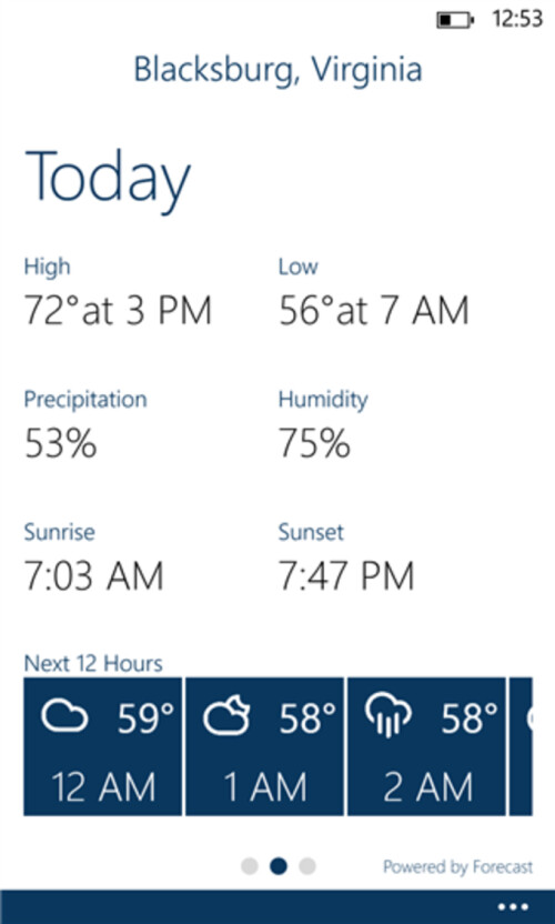 Blue Skies brings hyper-local weather to Windows Phone